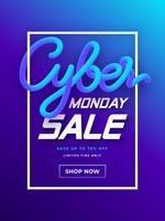 Cyber ​​Monday Social Media Post Vector