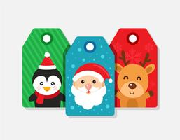 Etiquettes cadeaux Noël
