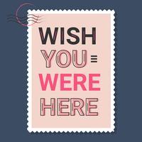 Ojalá estuvieras aquí Vector