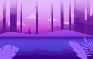 Illustration de paysage violet Vector