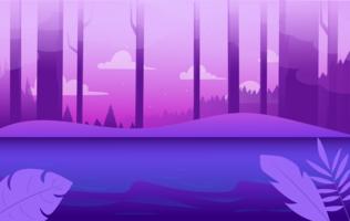 Illustration de paysage violet Vector