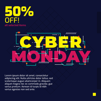 Cyber ​​Monday Vector