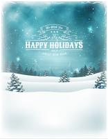 Christmas Holidays Landscape Background vector