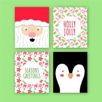 Cute Christmas Card With Patterns vector