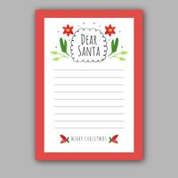 Cute Christmas Card To Santa