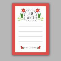 Linda tarjeta de navidad a santa