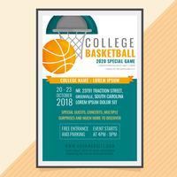 Cartaz de jogo de basquete de vetor