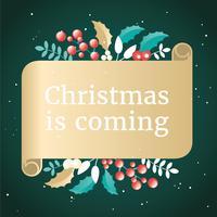 vektor jul hälsning kort design