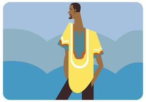 A Man With Dashiki Vector