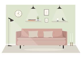 Vector Living Room Illustration