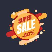 Bannière Super vente, design coloré et ludique