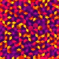 Mosaico poligonale vettoriale, triangolo texture di sfondo, motivo geometrico