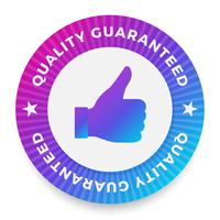 Quality guarantee label, round stamp for high quality products