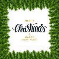 Fondo de abeto navideño, aspecto realista, diseño de vacaciones.