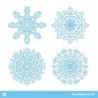 Snöflingor vektor symboler, jul snö ikoner uppsättning