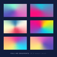 Gradient backgrounds, soft color blend theme