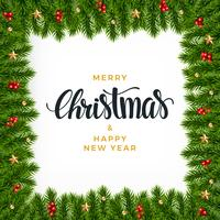 Fond de sapin de Noël, look réaliste, design de vacances