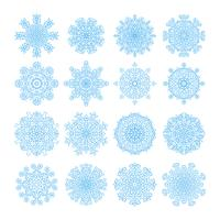 Snowflake vector symbols, christmas snow icons set