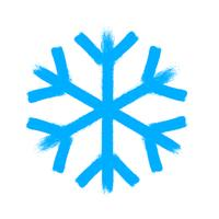 Snowflake vector symbol, christmas snow icon