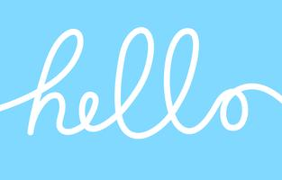 Hello word, calligraphy design illustration