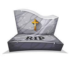 Christian Marble Tombstone With RIP