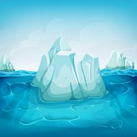 iceberg all'interno del paesaggio oceanico