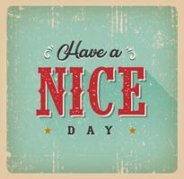 Have A Nice Day Card vector