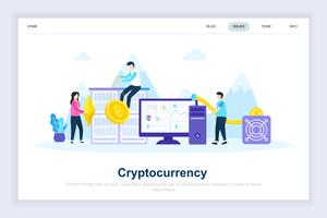 Crypto Currency Modern Flat Design Concept