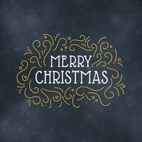 Illustration vectorielle de joyeux Noël typographie design