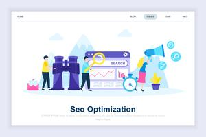 Seo analysis modern flat design concept