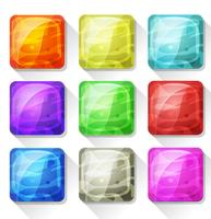 Iconos de lujo y botones para aplicaciones móviles y juegos de Ui
