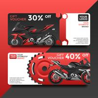 Otomotif Gift Card Voucher Templates Vector