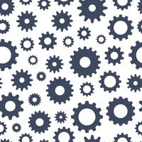 Cogs seamless pattern, technical background, illustration vector
