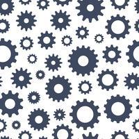 Radertjes naadloos patroon, technische achtergrond, illustratie