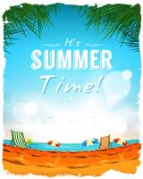 Summer Time Poster Background