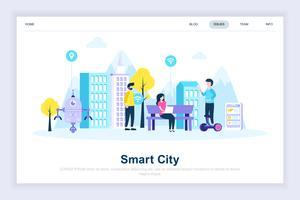 Conceito de design plano moderno de cidade inteligente