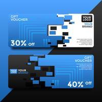 Elektrische Gift Card Voucher sjablonen Vector