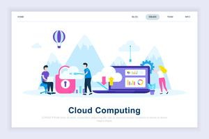 Cloud computing modernt plattdesignkoncept