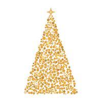 Círculos de árboles de Navidad, tarjeta de felicitación de Navidad, ilustración