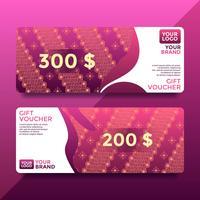 Magenta Batik Gift Card Voucher sjablonen Vector