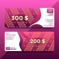 Magenta Batik Gift Card Voucher Templates Vector
