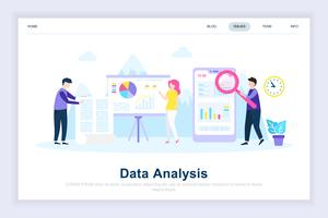 Data analysis modern flat design concept