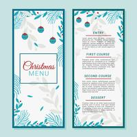 Christmas Dinner Menu Template Vector