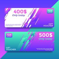 Alleen vandaag Gift Card Voucher sjablonen Vector