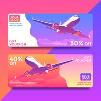 Trip Gift Card Voucher Templates Vector