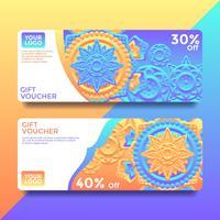 Mandala tarjeta de regalo vales plantillas de vectores