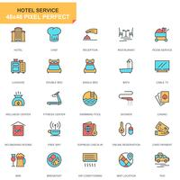 Hoteldiensten Icon Set