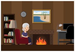 Old Woman In a Cozy Room