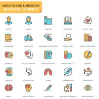 Gezondheidszorg en geneeskunde Icon Set