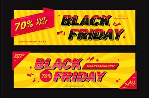 Black Friday-bannervector